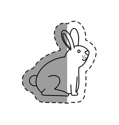 cute rabbit mascot icon vector image