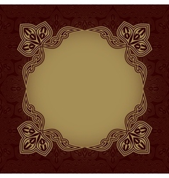 Dark red patterned background vector image