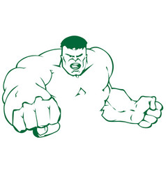 Design hulk vector