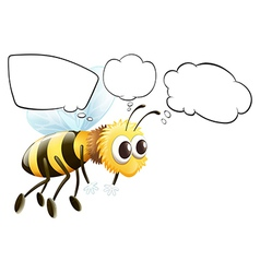 empty thoughts a flying bee vector image