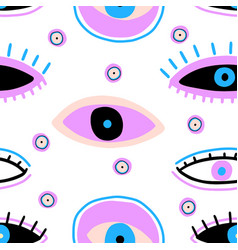 Evil seeing eye symbol naive pattern occult vector