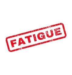 Fatigue Text Rubber Stamp vector