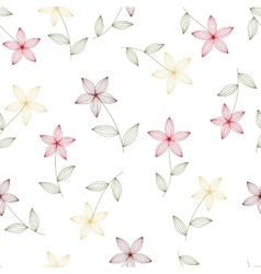 flowers seamless isolated vector image