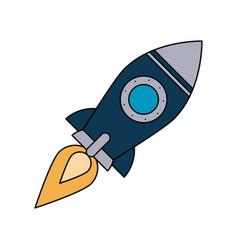 Flying rocket icon image vector