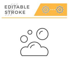 foam editable stroke line icon vector image