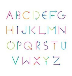 font from arrows vector image