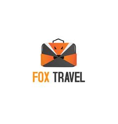 fox travel logo vector image