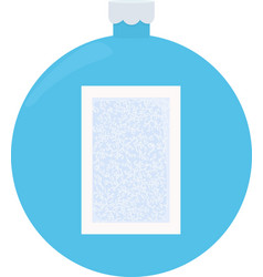 frost glass pattern winter frame on blue vector image