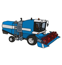 Funny blue harvester vector image