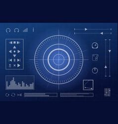 futuristic screen vector image