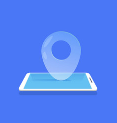 geotag location icon mobile navigator application vector image
