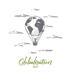 globalization concept hand drawn isolated vector image