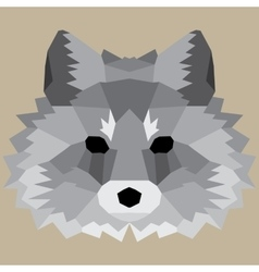 Gray low poly fox vector