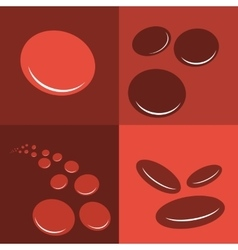 Group erythrocytes corpuscles icon vector image
