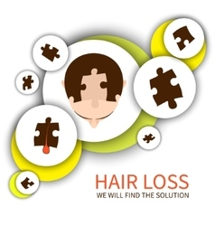 Hair loss solution concept vector image