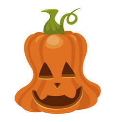 halloween pumpkin icon orange autumn holiday vector image
