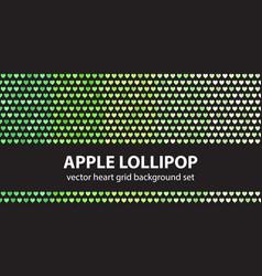 heart pattern set apple lollipop seamless vector image
