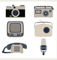 icon retro flat communication graphic global vector image