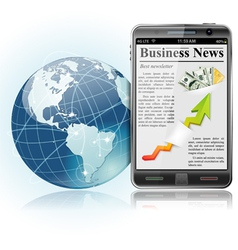iphone with news vector image
