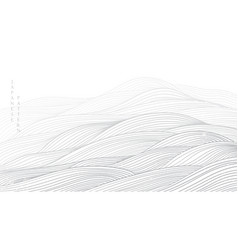 japanese background with grey line wave pattern vector image