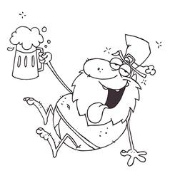 Leprechaun cartoon vector