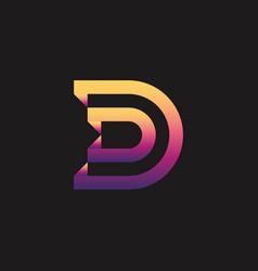 Letter d logo template vector