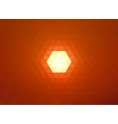 Low poly sun on orange sky vector image