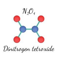 N2O4 dinitrogen tetroxide molecule vector