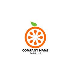 orange fruit logo design element vector image