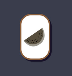 Paper sticker on stylish background slice of vector