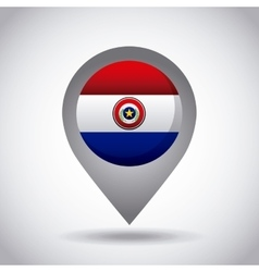 paraguay flag pin vector image