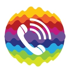 Phone Rainbow Color Icon for Mobile Applications vector image