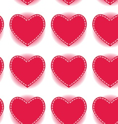Pink heart seamless pattern on a white background vector image vector image