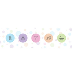 Pouring icons vector
