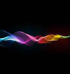 rainbow ribbon background vector image