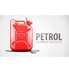 Red fuel canister for petrol vector