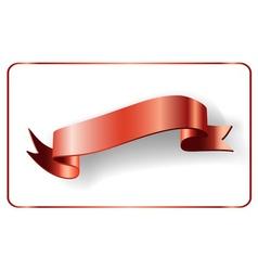 Red ribbon satin bow blank vector image