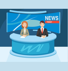 reporter in the studio are ready to work vector image