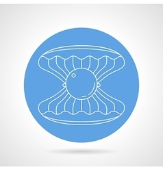 Scallop blue round icon vector image