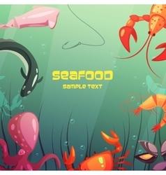 Seafood cartoon vector