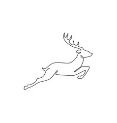 Single continuous line drawing cute elegance vector