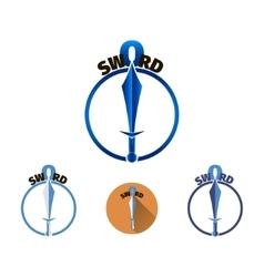 Sword logo template vector