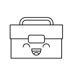 tool box kawaii character vector image