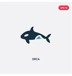 Two color orca icon from animals concept isolated vector
