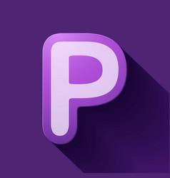 Volume icons alphabet p vector