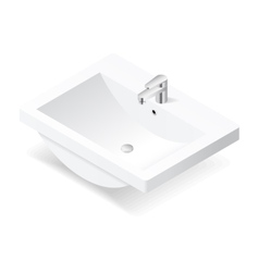 Washbasin isometric icon vector image