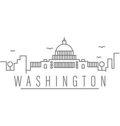 Washington city outline icon elements cities vector