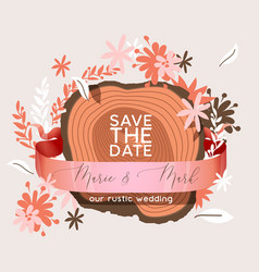wedding invitation card save date suite vector image