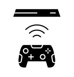Wireless gaming controller glyph icon vector