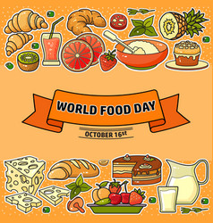 world food day of stylized vector image